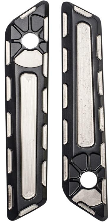 【35011079】 FUSION サドルバッグラッチカバー:2014年以降ツーリングモデルでハードサドルバッグ装着に適合/Laser Satin Black