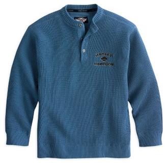 ハーレー 純正 アパレル 【長袖】 Textured Henley Sweater