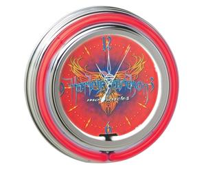 ハーレー 純正 アパレル 【時計】 Extreme Pinstripe Neon Clock