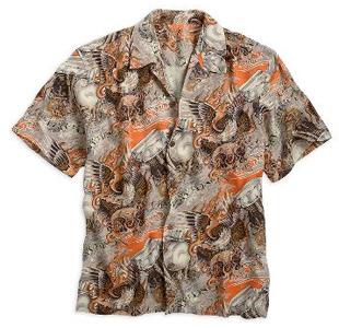 ハーレー 純正 アパレル 【半袖シャツ】 Allover Print Woven Shirt
