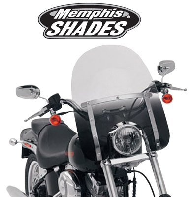 【23130106】17 SLIMスクリーン Memphis Shades Night Shades black ハーレーパーツ