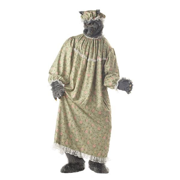 WOLF GRANNY 狼 オオカミ 赤ずきんちゃん 動物 衣装、コスチューム 大人男性用