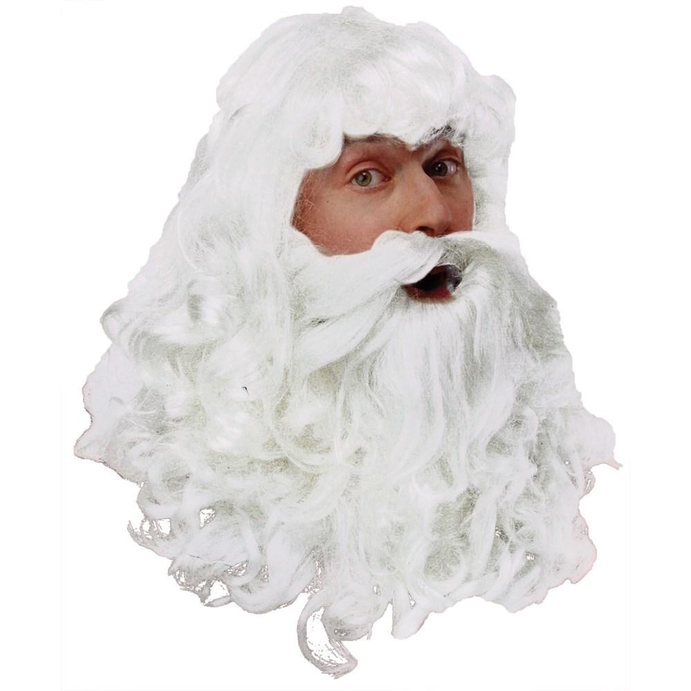 サンタクロース ウィッグ、かつら 髭 ヒゲ BEARD REG クリスマス  ホワイト