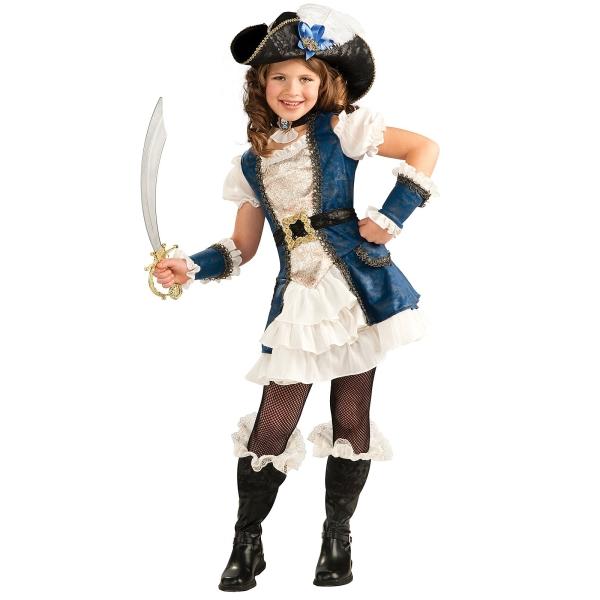 ブルーパイレーツ 海賊 衣装、コスチューム 子供女性用 コスプレ