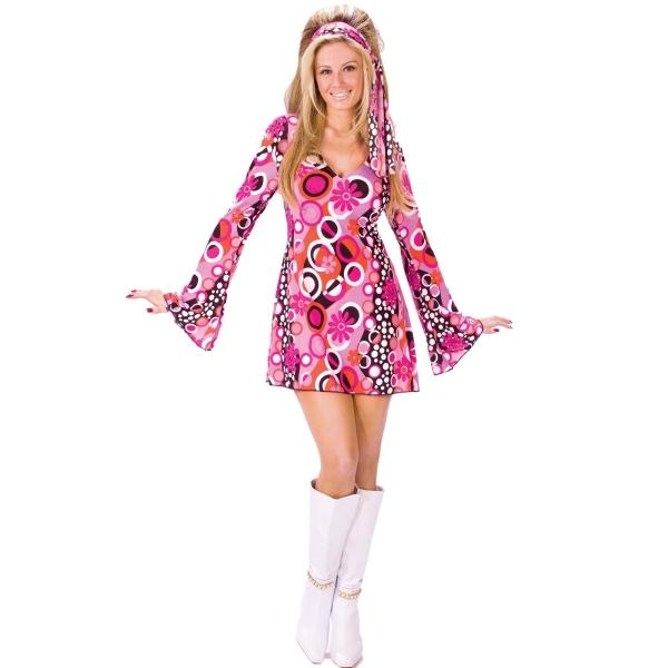 ヒッピー ディスコ ダンス 衣装、コスチューム 大人女性用 コスプレ Feelin' Groovy