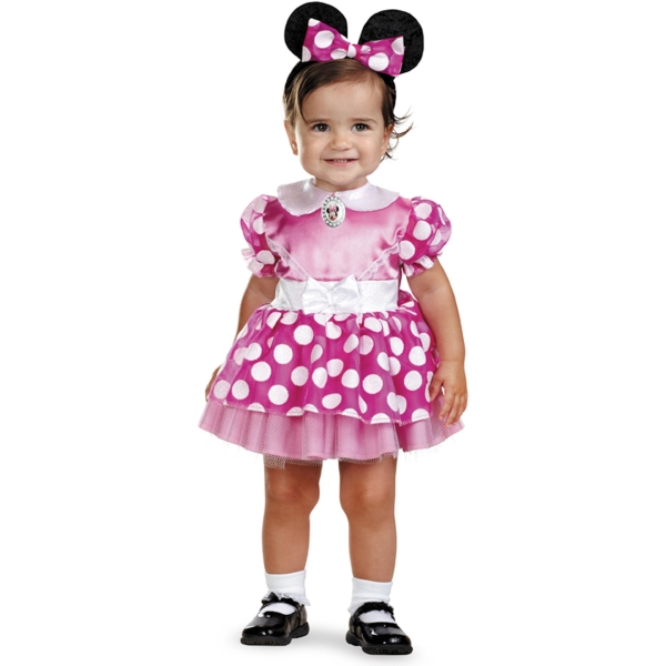 ミニーマウス ピンク 衣装、コスチューム ベビー用 ディズニー Pink Minnie Mouse コスプレ