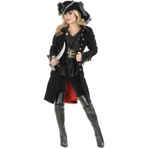 女海賊のコート ブラック 衣装、コスチューム 大人女性用 Pirate Vixen