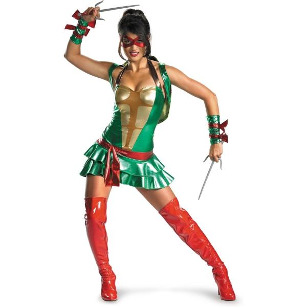 ニンジャ・タートルズ 衣装、コスチューム DLX 大人女性用 ラファエル セクシー Raphael