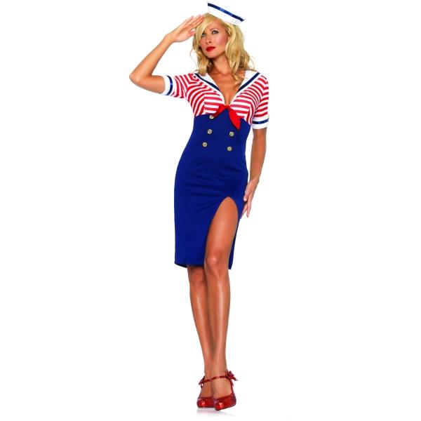 セクシーな航海士 衣装、コスチューム 大人女性用 Deckhand Diva
