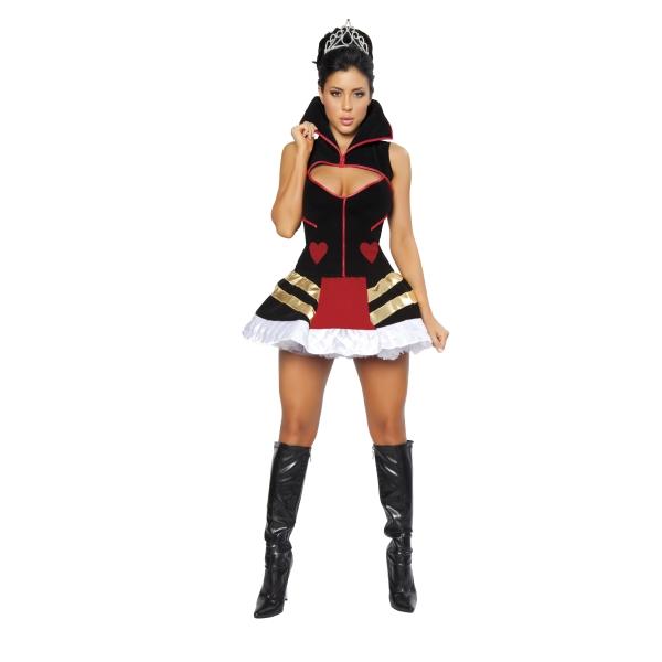ハートの女王 衣装、コスチューム ミニドレス 大人女性用  Queen of Hearts