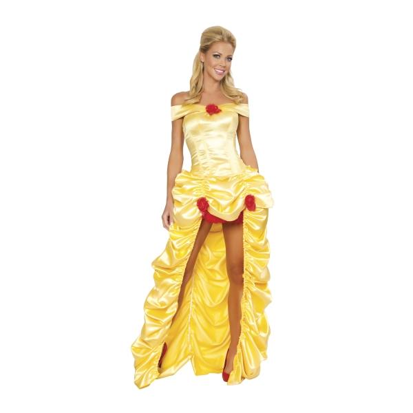 ベル風 ロングスカートドレス 衣装、コスチューム 大人女性用 DLX 美女と野獣
