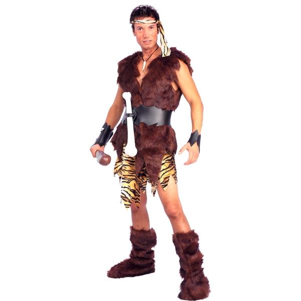 原始人 衣装、コスチューム 大人男性用 King of Caves 毛皮