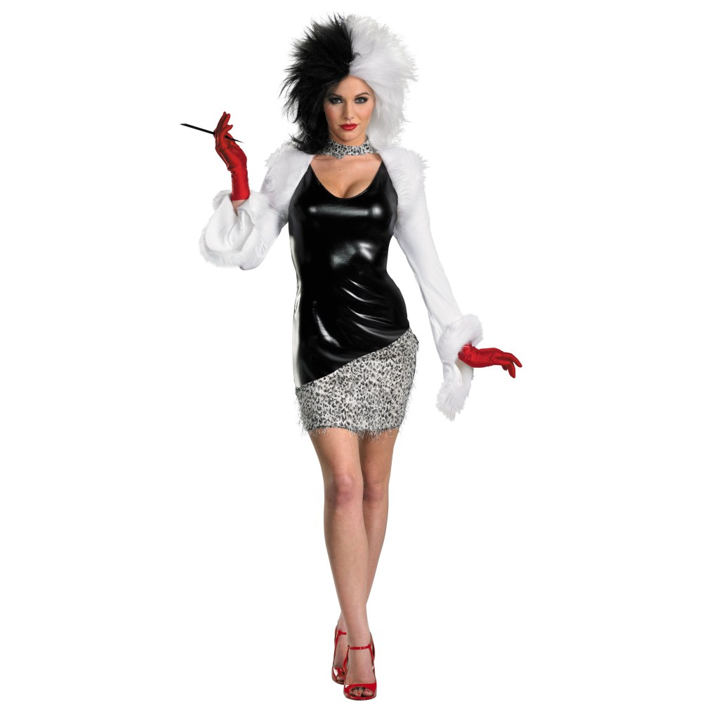 101匹わんちゃん クルエラ 衣装、コスチューム 大人女性用 ディズニー Sassy
