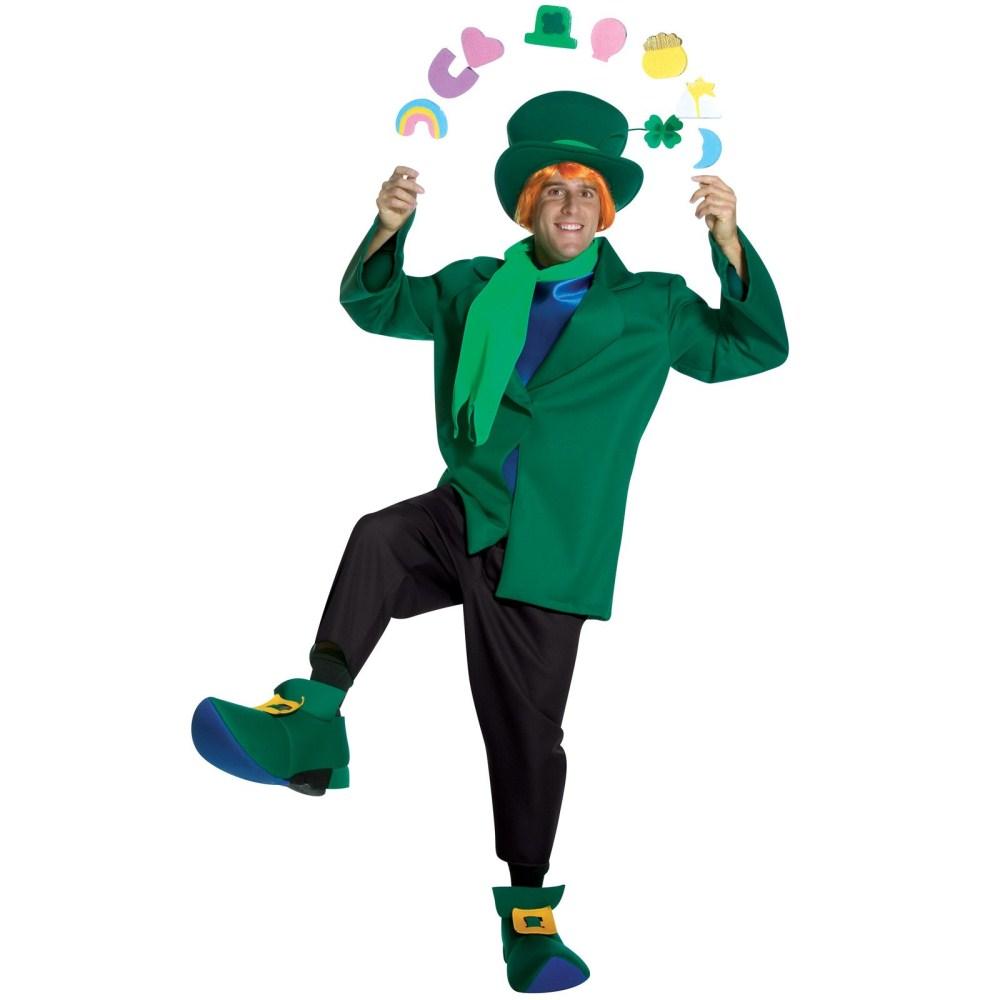 妖精 衣装、コスチューム 大人男性用 ラッキーチャーム グリーン