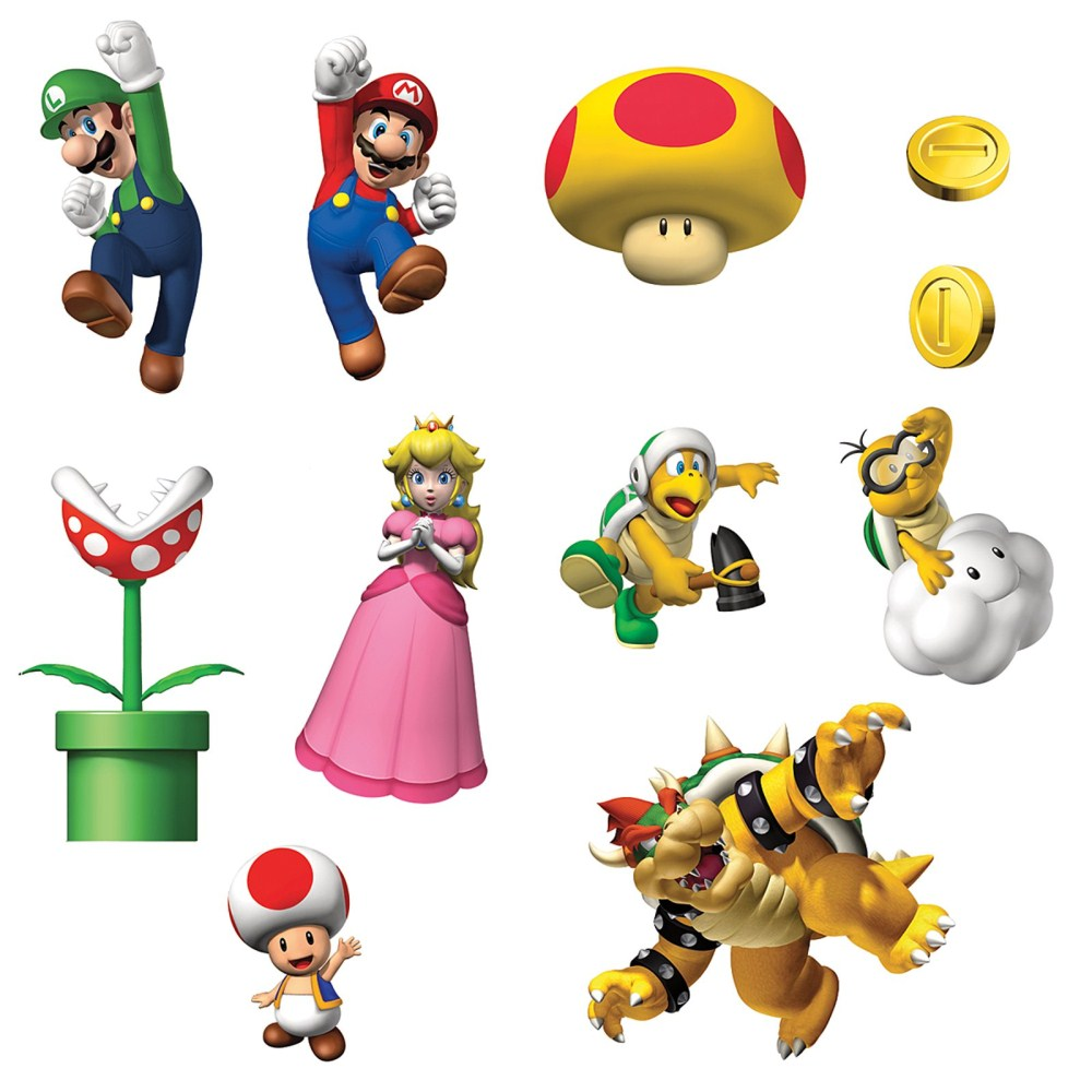 Super mario stickers 75 d