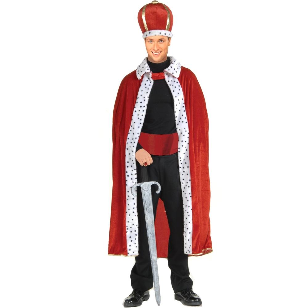 王様キット ローブ レッド 大人男性用 王冠 クラウン キング コスプレ