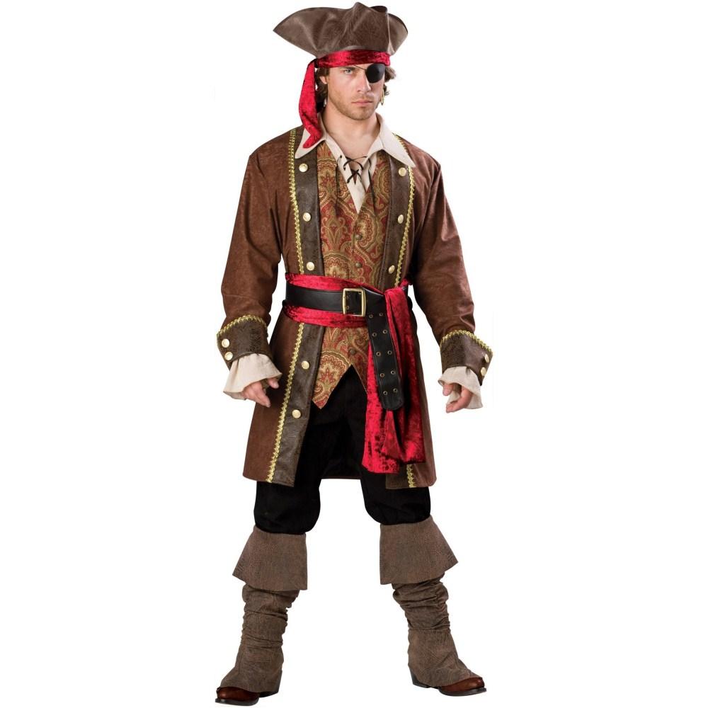 百戦錬磨の海賊船長 最高級 大人男性用 衣装、コスチューム
