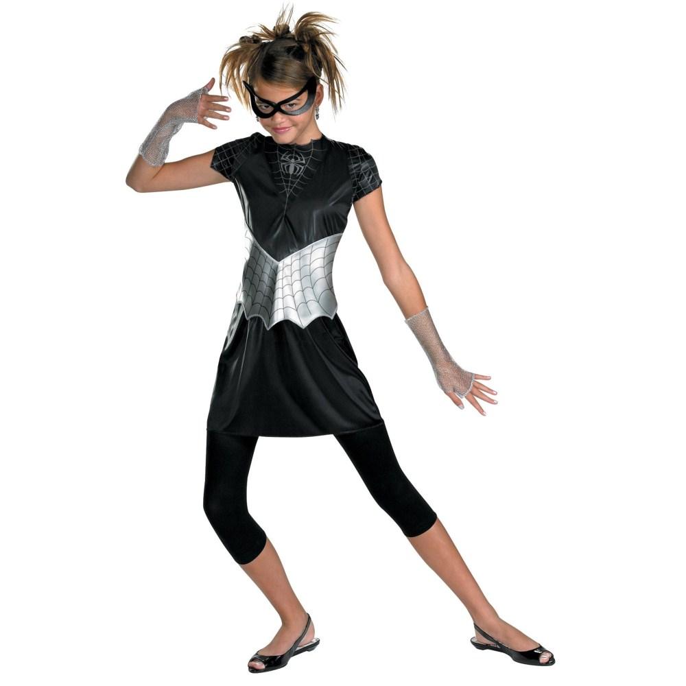 スパイダー・ガール ブラックスーツコスチューム Tween / Teen女性用 衣装