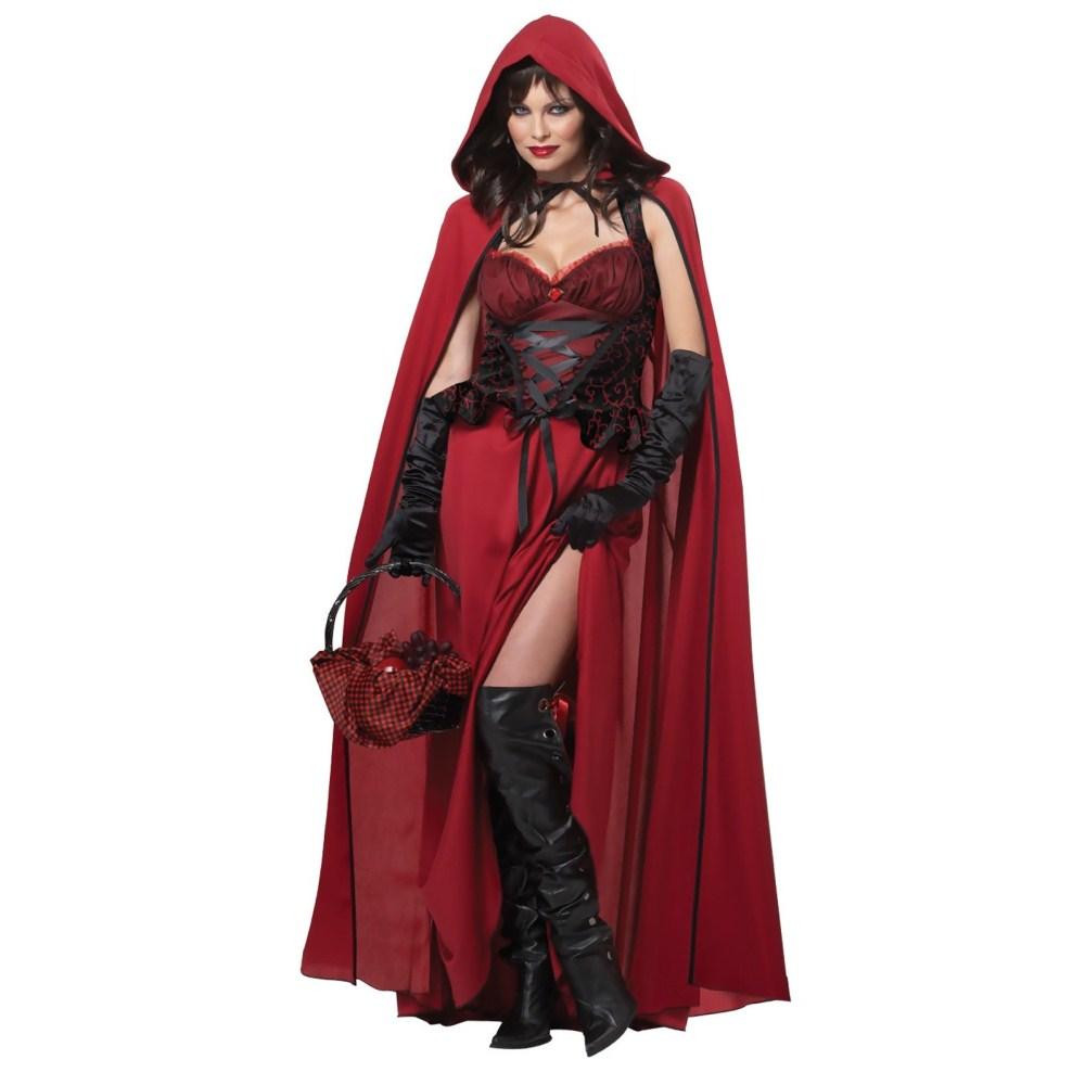 ダーク赤ずきん 大人女性用 衣装、コスチューム