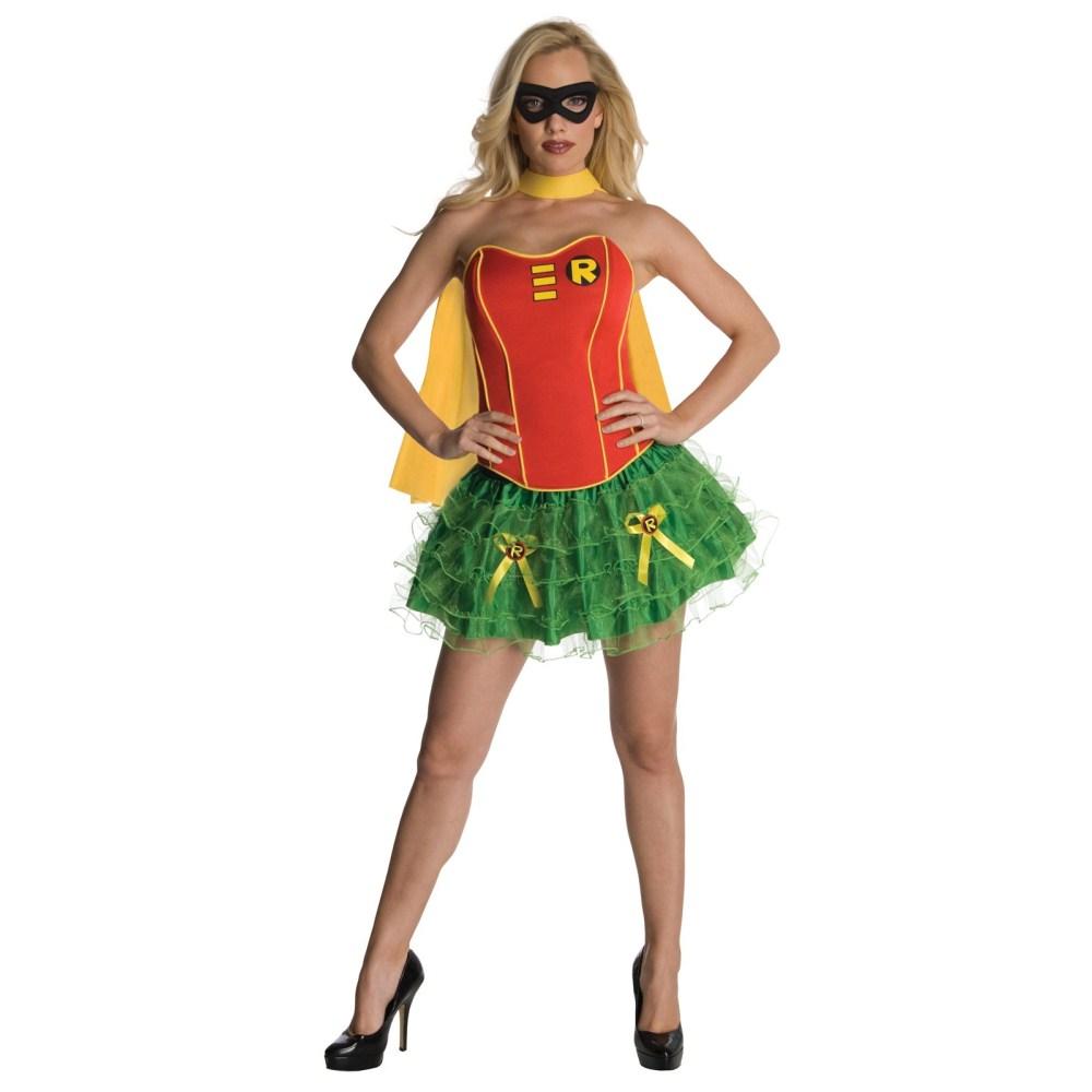 DCコミック シークレット・ウィシュ ロビン コルセット 衣装、コスチューム 大人女性用