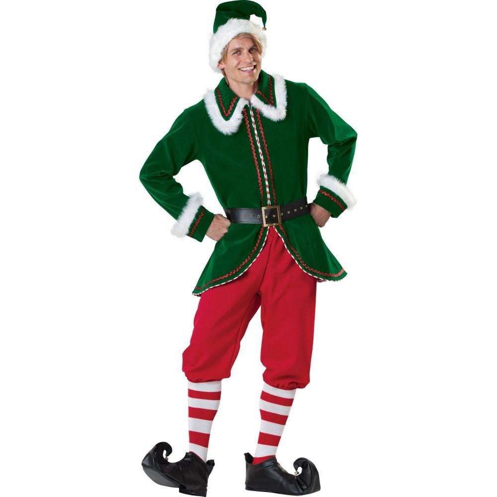 サンタクロース 妖精エルフ 衣装、コスチューム 大人男性用