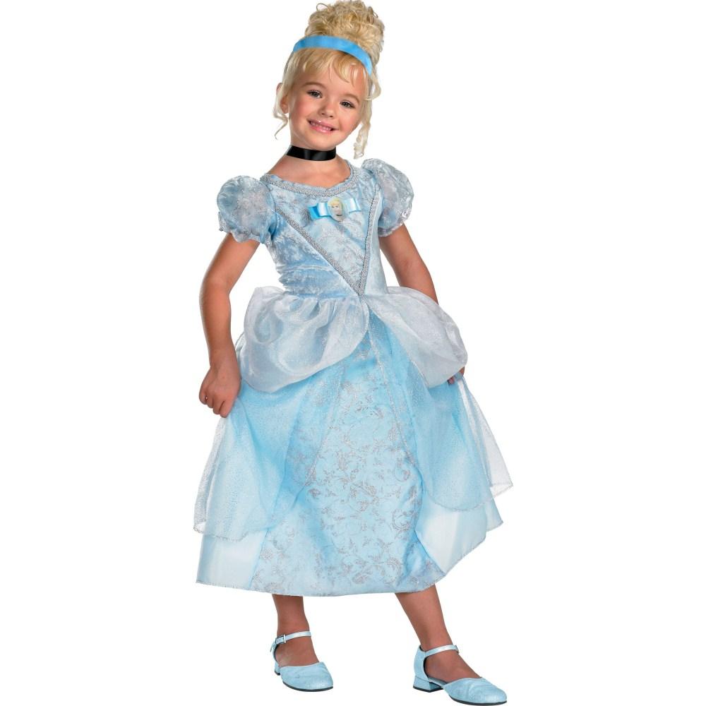 シンデレラ 衣装、コスチューム DLX 子供女性用 ドレス ディズニープリンセス コスプレ