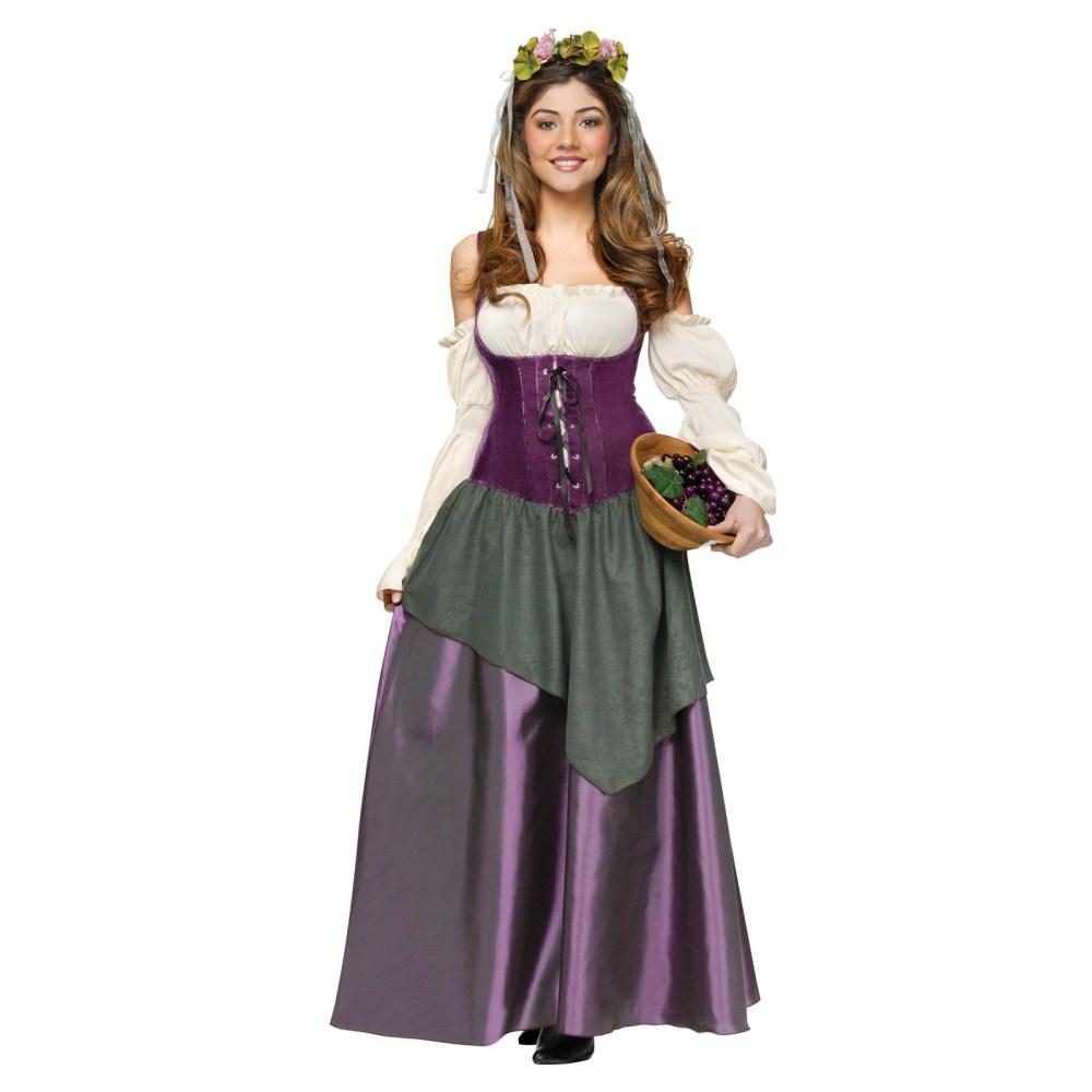 田舎風の居酒場のレディー 衣装、コスチューム 大人女性用