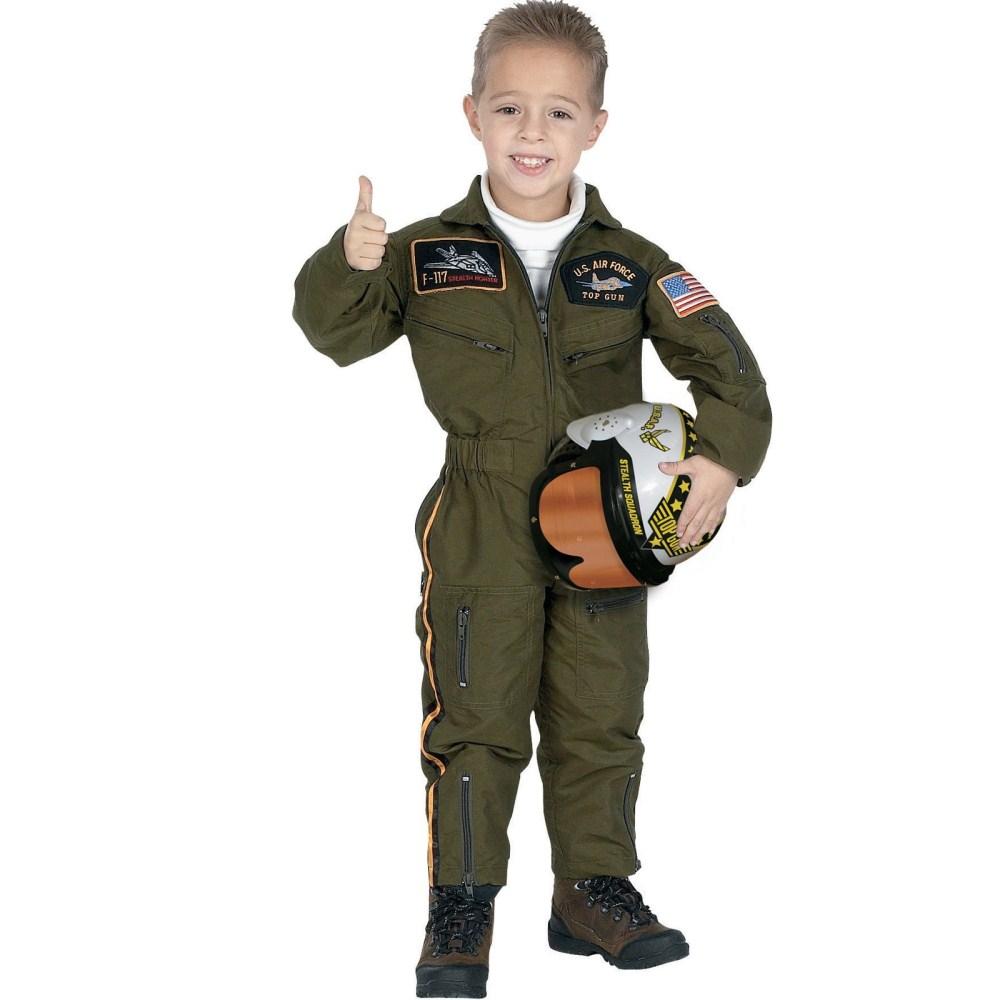 ジュニア・アーメッド・フォース・パイロット 衣装、コスチューム 子供男性用
