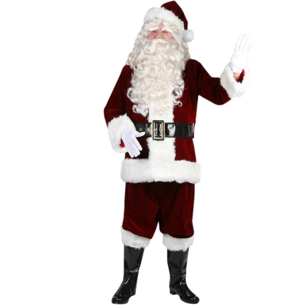 ウルトラ・ベルベット・サンタ・スーツ サンタクロース クリスマス用 衣装、コスチューム 大人男性用