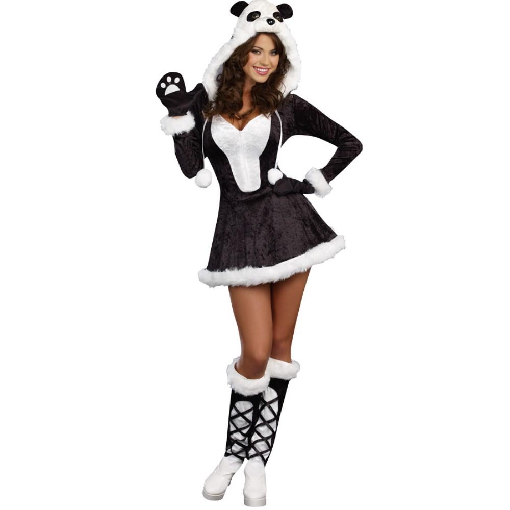 パンダ 動物 衣装、コスチューム 大人女性用 コスプレPANDA BEAR BABY