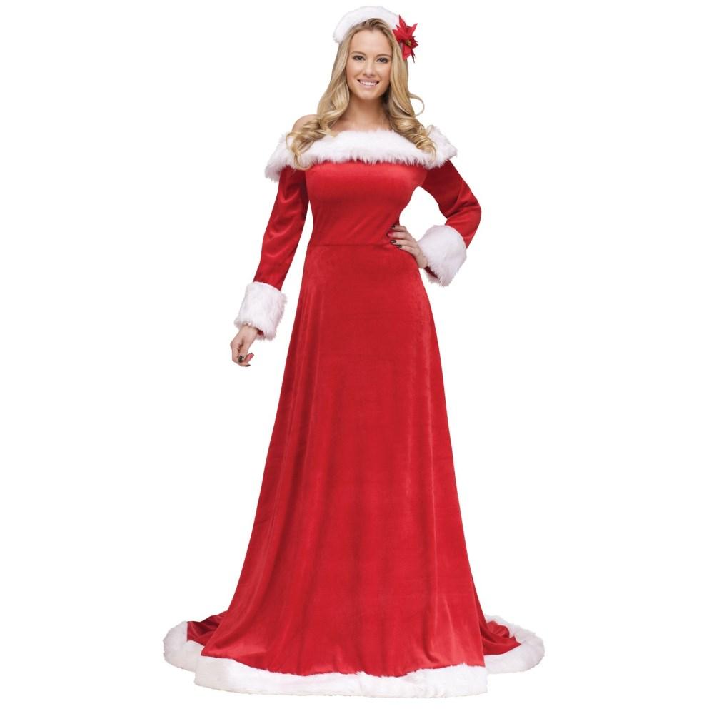 サンタクロース ドレス 衣装、コスチューム 大人女性用 セクシー Lady Santa Dress