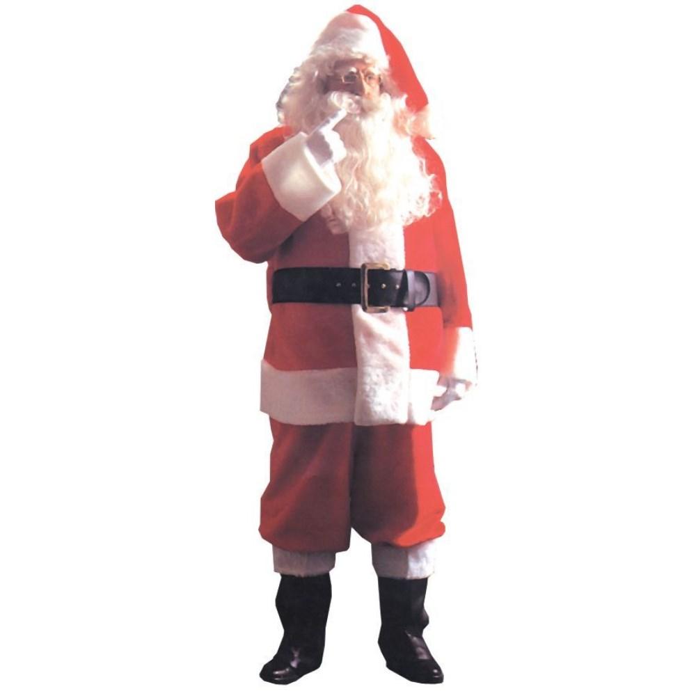 サンタクロース 衣装、コスチューム 大人男性用 クリスマス SANTA SUIT PLSH