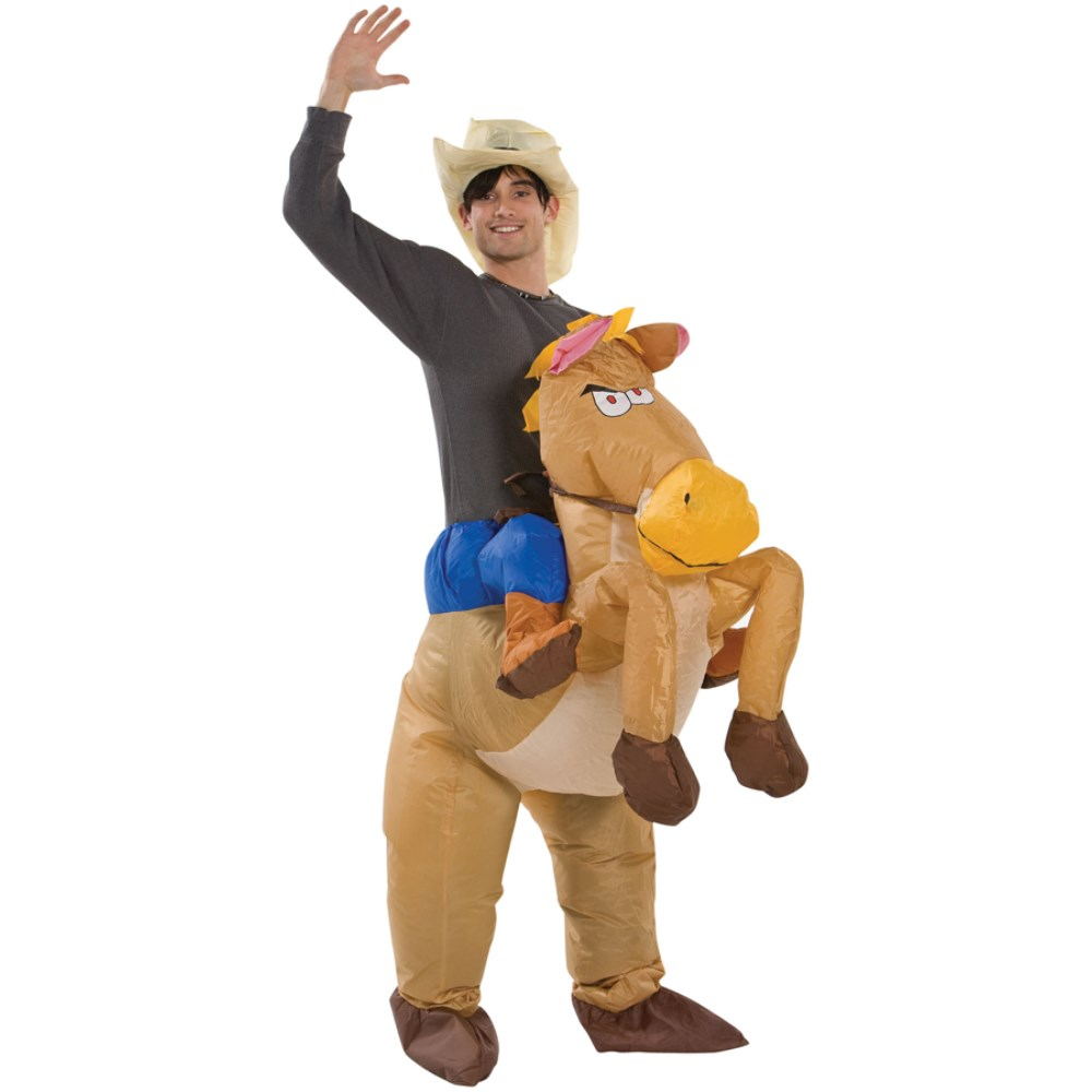 乗馬 ポニー 衣装、コスチューム 空気で膨らむ RIDING ON HORSE コスプレ