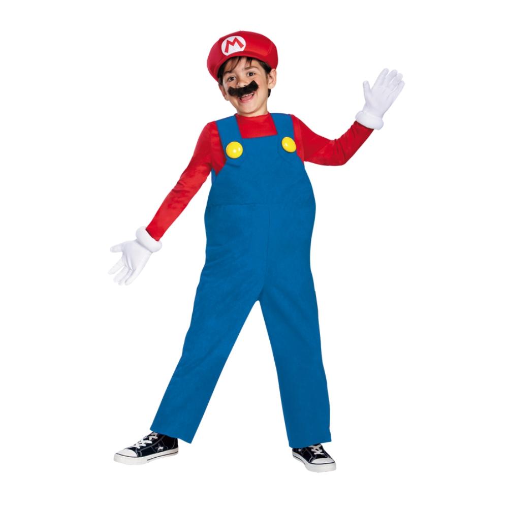 スーパーマリオ マリオ 衣装、コスチューム 子供男性用 コスプレ
