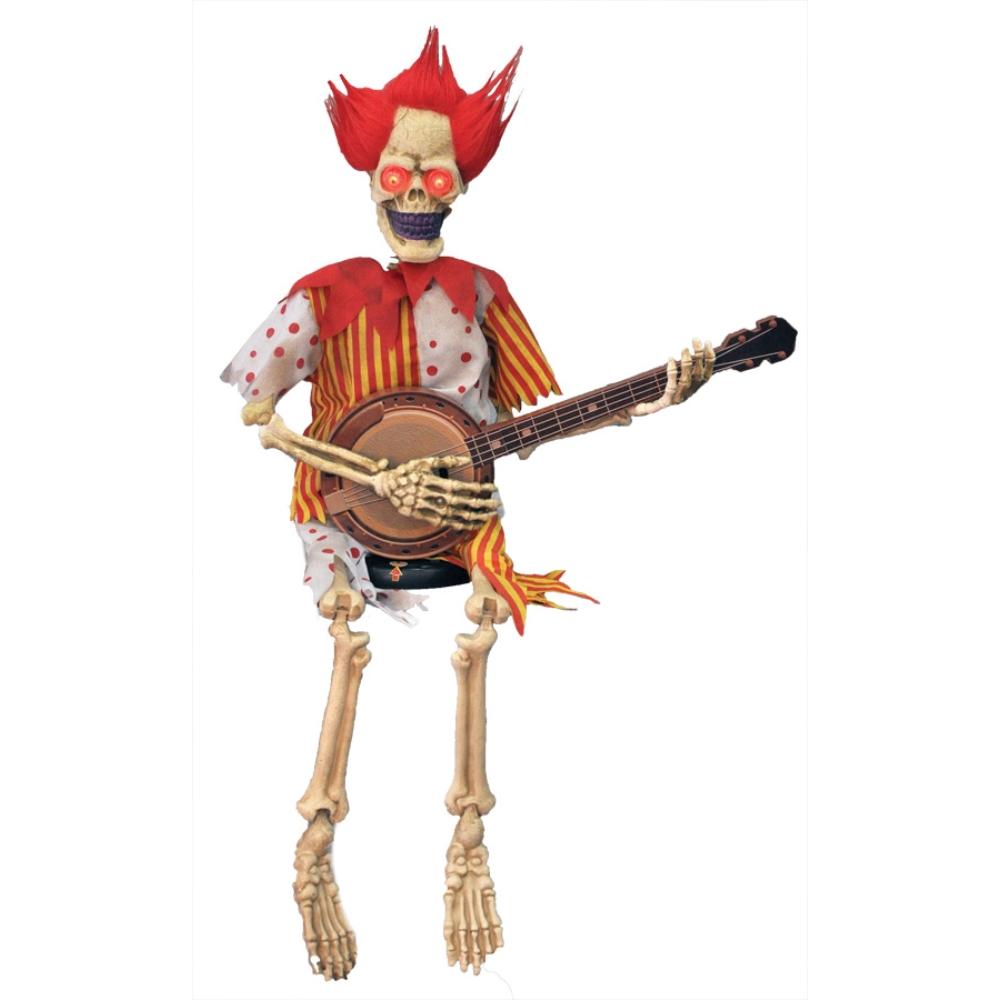 ギターを弾く骸骨 動く 小道具 ハロウィン用