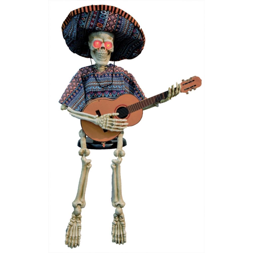 13時までの注文 決済完了で当日出荷 土日祝と取寄せ除く ギターを弾く骸骨 完全送料無料 動く コスプレ メキシカン ハイクオリティ 小道具 ハロウィン用