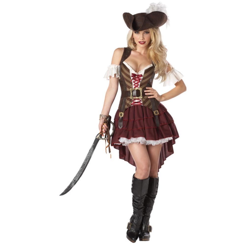 海賊 セクシー 衣装、コスチューム 大人女性用 Swashbuckler