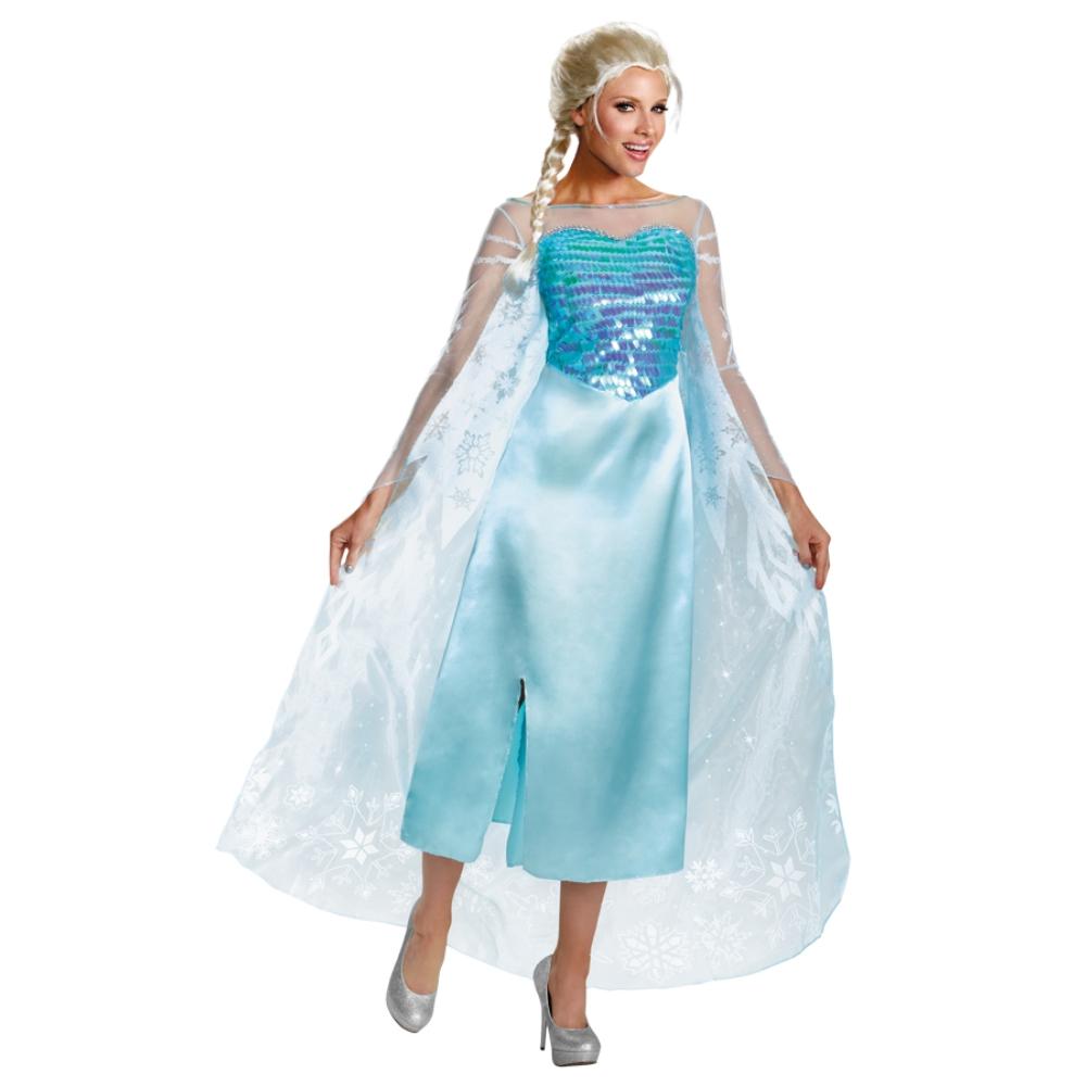 エルサ 衣装、コスチューム 大人女性用 DELUXE アナと雪の女王