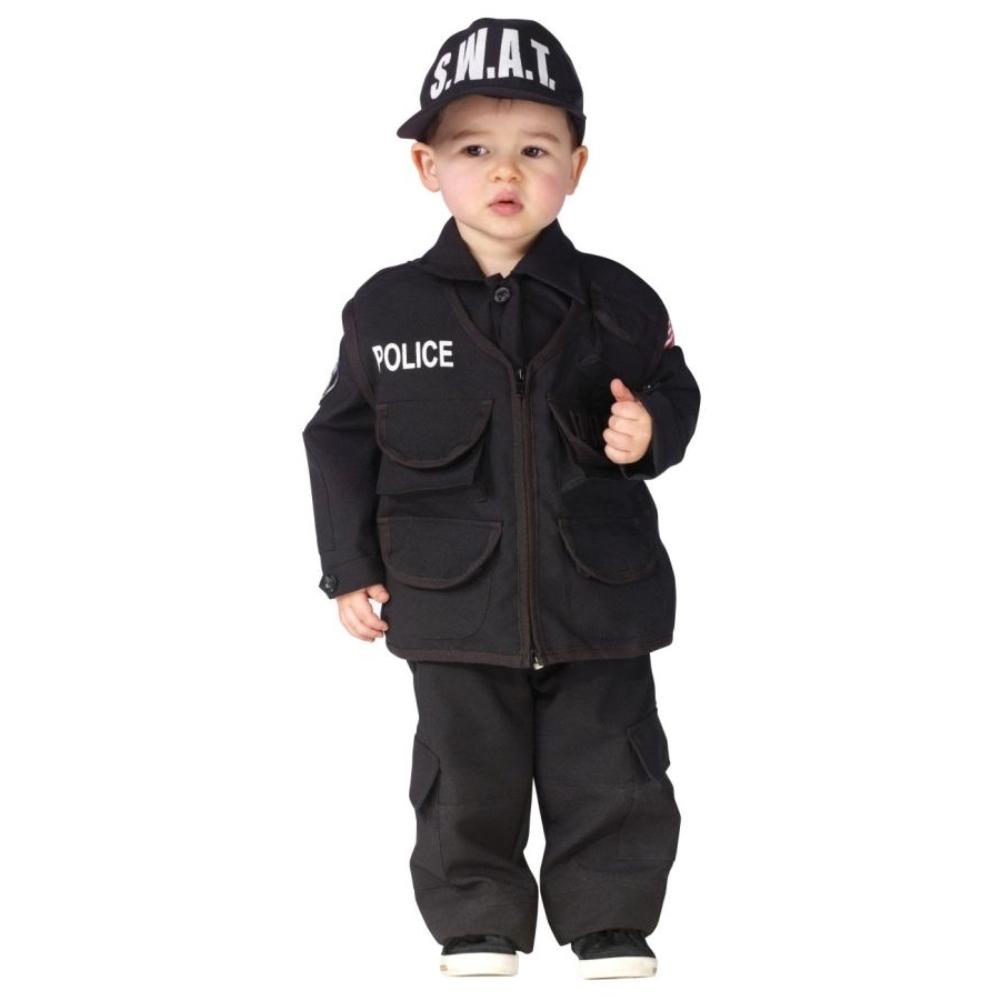 スワット 特種警察 衣装、コスチューム 子供男性用 オーセンティック