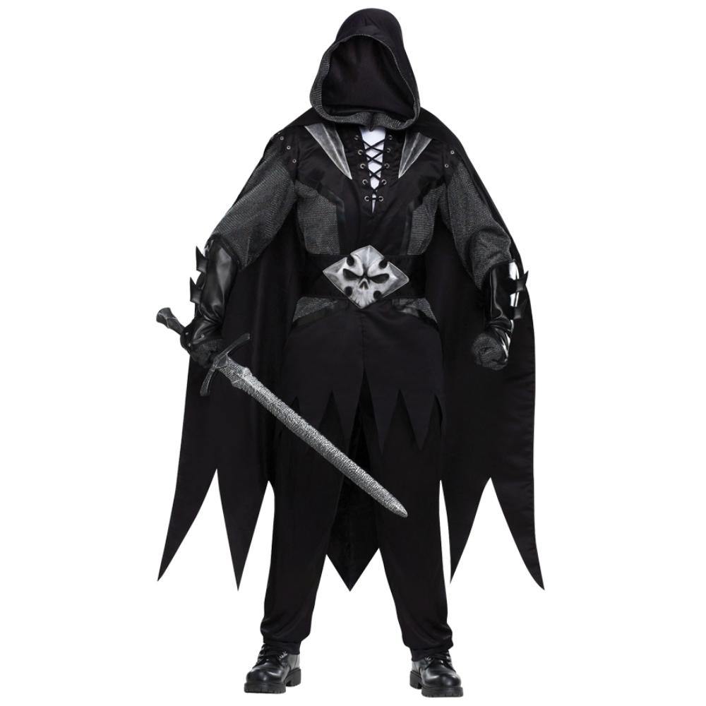死神ナイト ブラックの騎士 衣装、コスチューム 大人男性用 ホラー コスプレ