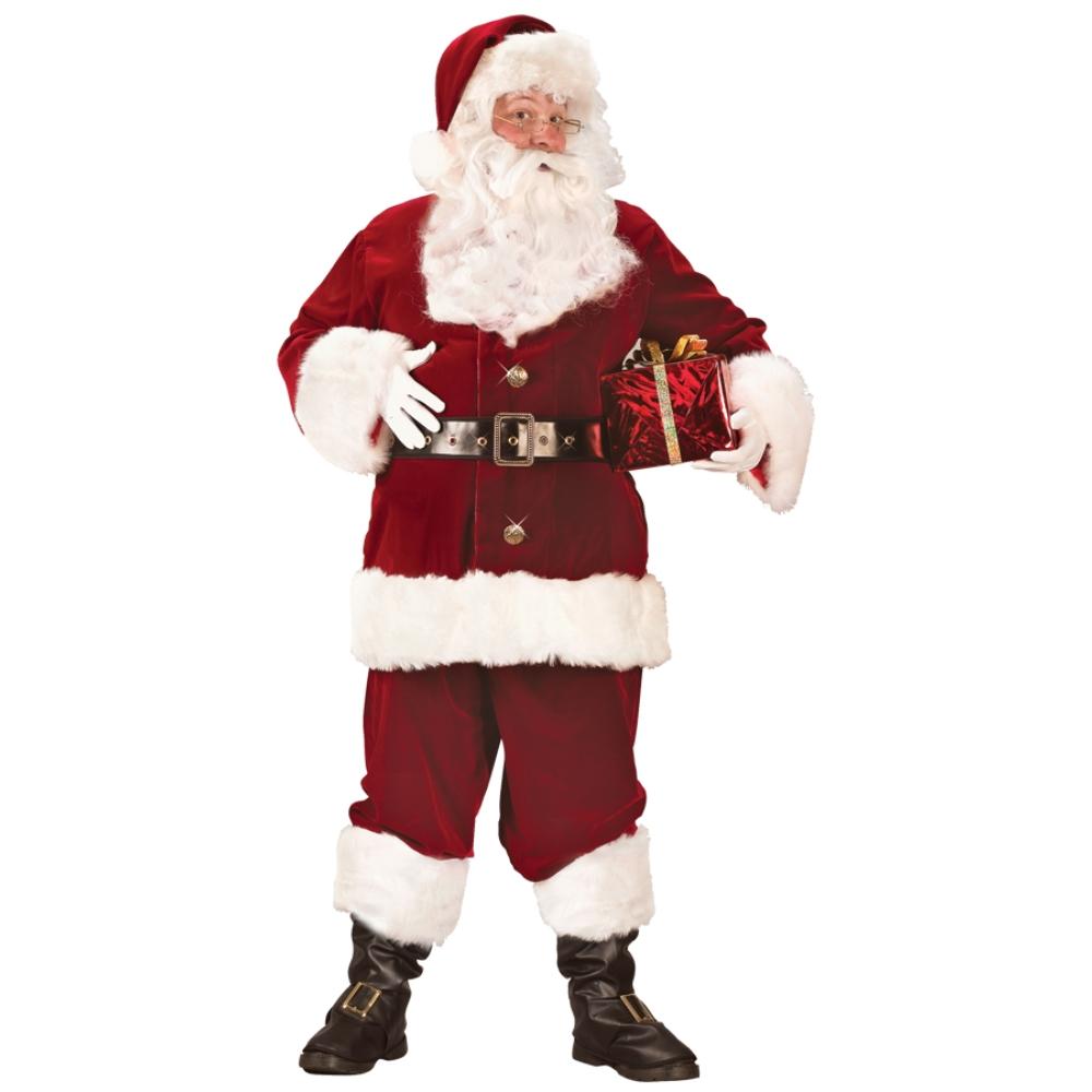 サンタクロース 衣装、コスチューム 大人男性用 クリスマス SUPER DELUXE コスプレ