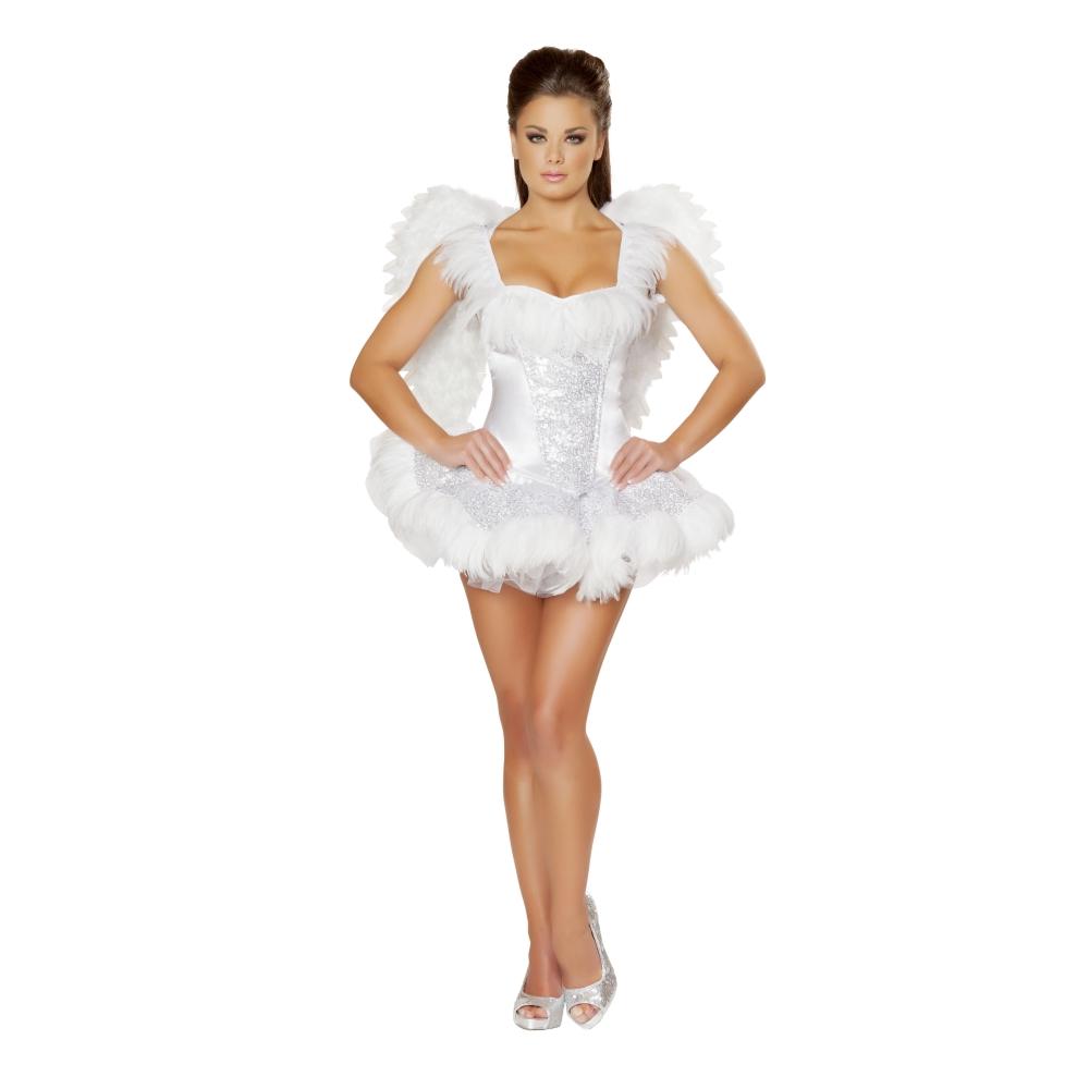 白鳥 スワン 動物 白 衣装、コスチューム 女性大人用  2pc Swan Seductress コスプレ
