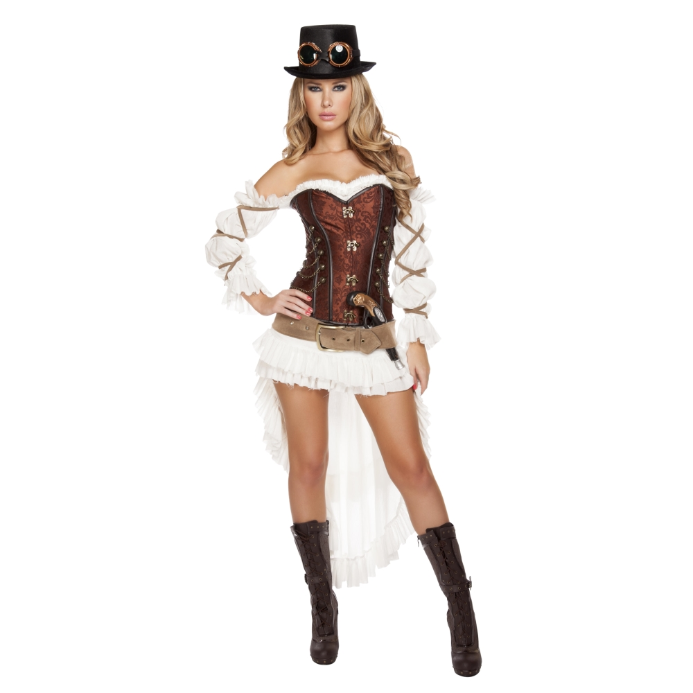 海賊 衣装、コスチューム 女性大人用  7pc Sexy Steampunk Babe