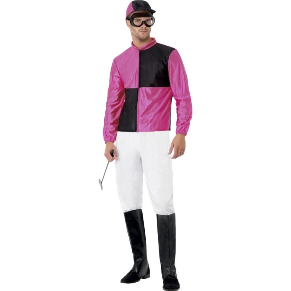 騎手 ピンク 衣装、コスチューム ユニフォーム 馬 大人男性用 Jockey