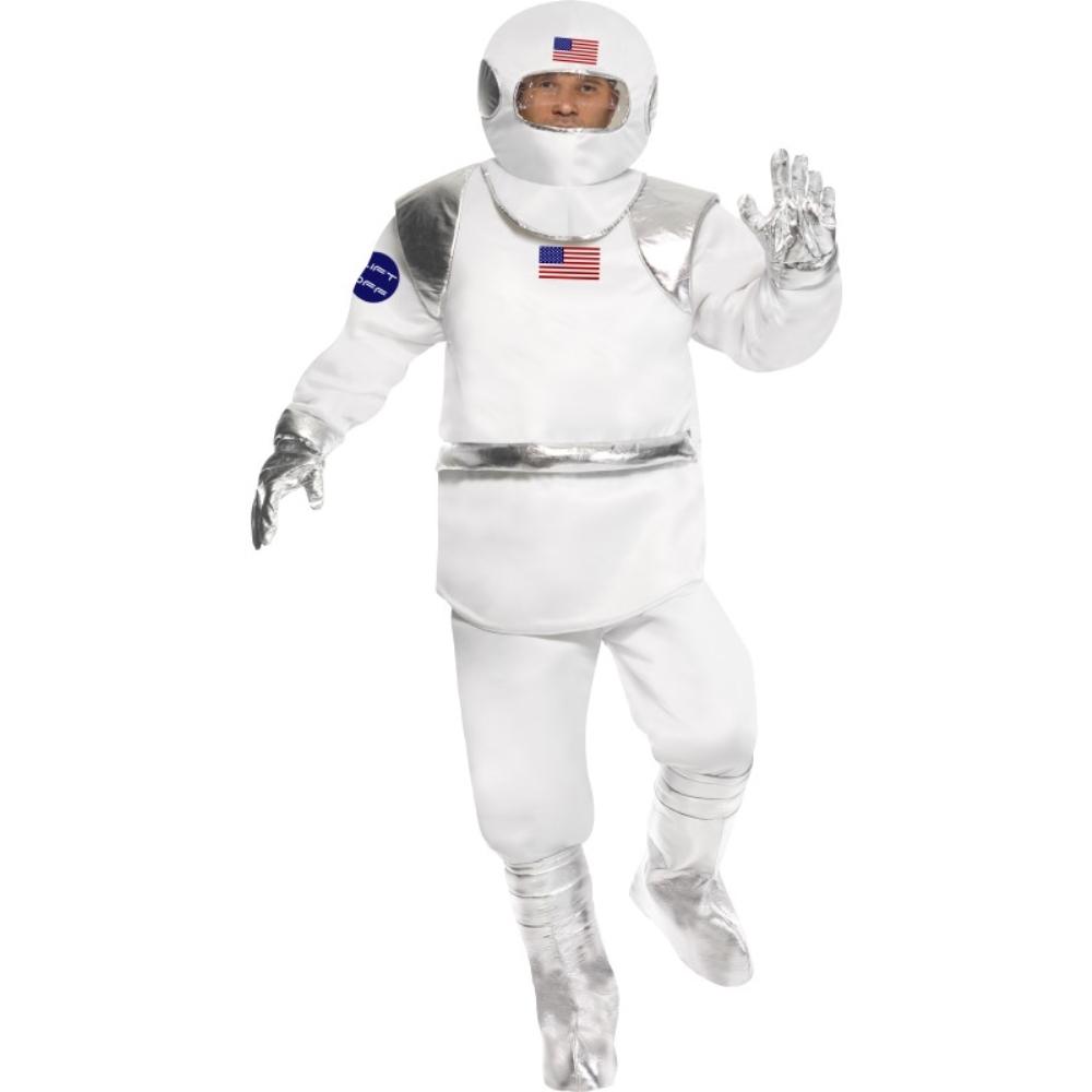 宇宙飛行士 白 シルバー 衣装、コスチューム アメリカ 大人男性用 Spaceman