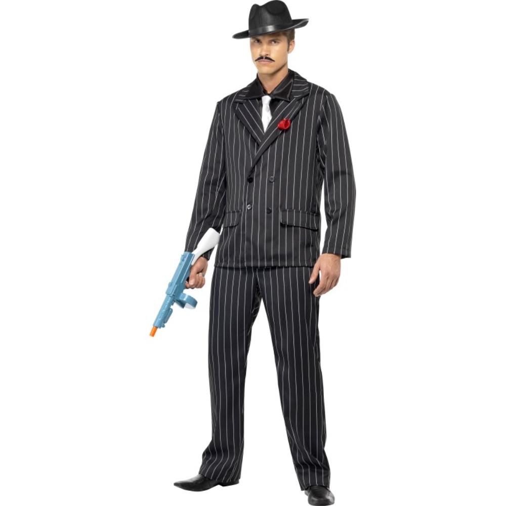 ギャング 黒 衣装、コスチューム ズートスーツ 大人男性用 Zoot Suit