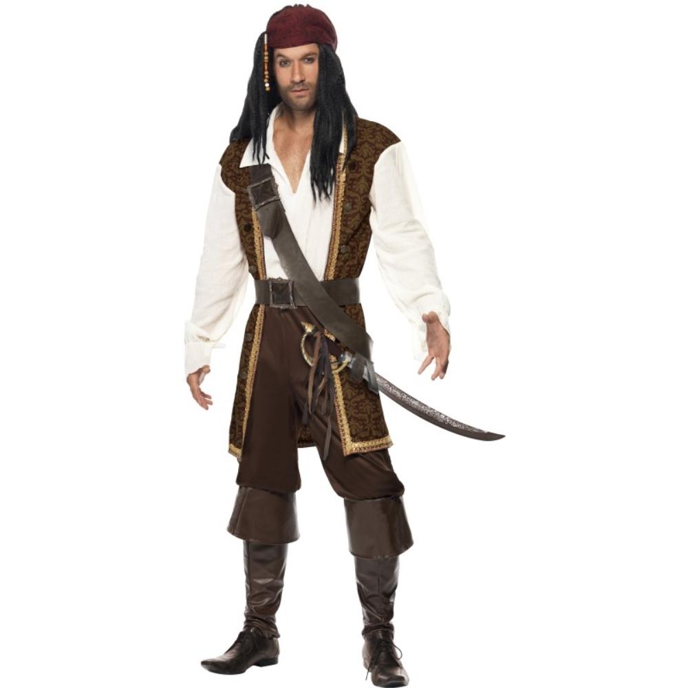 海賊 茶 衣装、コスチューム 大人男性用 High Seas Pirate コスプレ