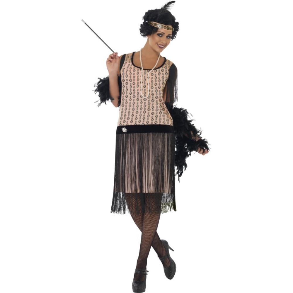 フラッパー 黒 ピンク 衣装、コスチューム 大人女性用 1920's Coco Flapper