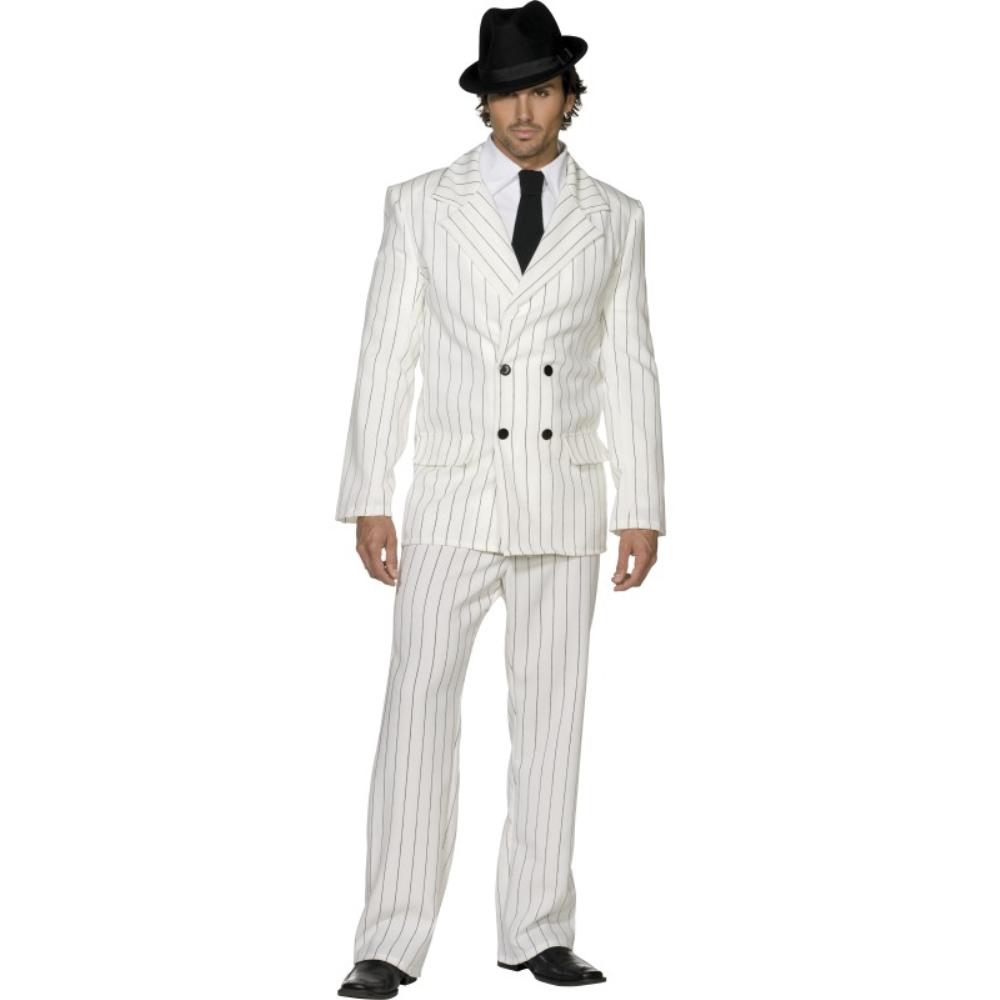 ギャング 白 衣装、コスチューム 大人男性用 Fever Gangster