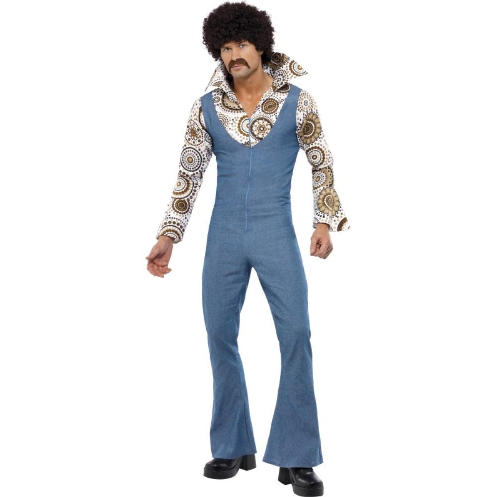 ディスコ ダンサー 青 衣装、コスチューム 大人男性用 Groovy Dancer